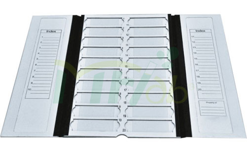 Slides Trays for 20 pieces Slides with lid and dividers